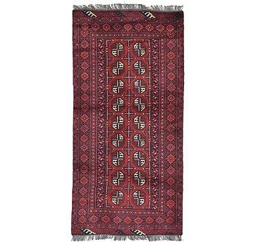 99x201 Afghan Akhche Rug