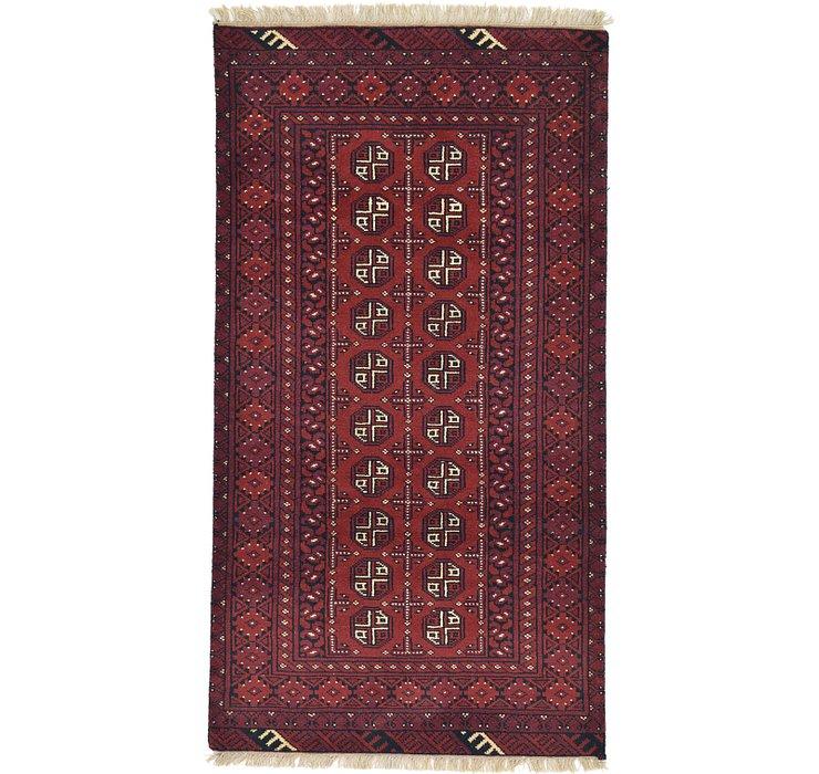 3' 4 x 6' 2 Afghan Akhche Runner Rug
