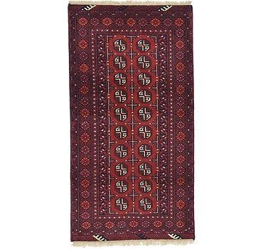 99x191 Afghan Akhche Rug