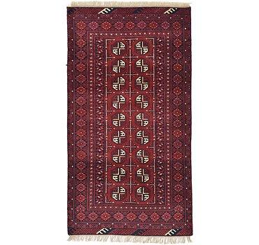 102x188 Afghan Akhche Rug