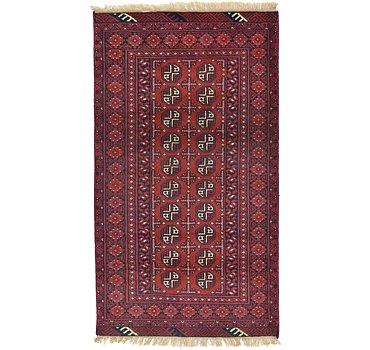 104x185 Afghan Akhche Rug