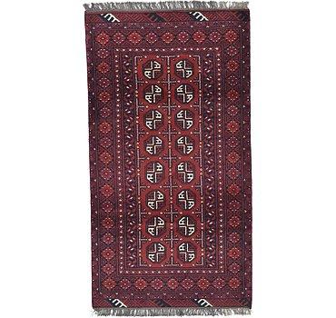 99x183 Afghan Akhche Rug