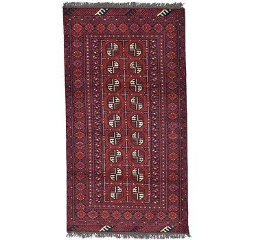 104x193 Afghan Akhche Rug