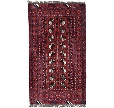104x183 Afghan Akhche Rug