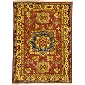 5x8 Orange Kazak  Rugs