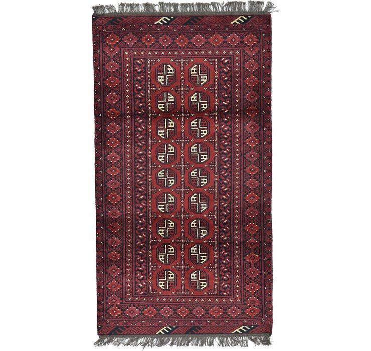 105cm x 188cm Afghan Akhche Rug