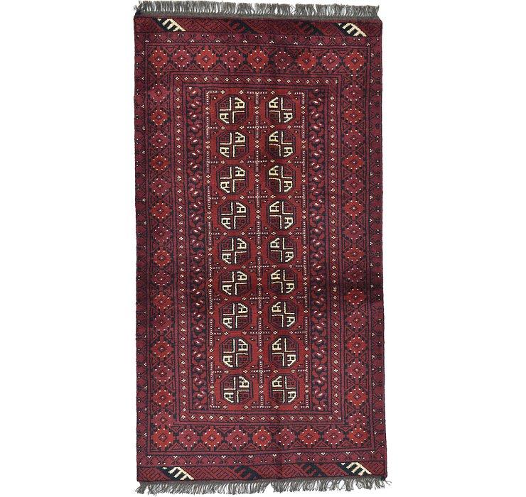 3' 4 x 6' 2 Afghan Akhche Rug