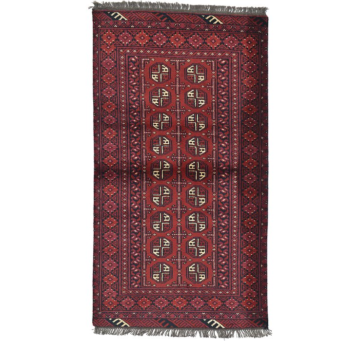 HandKnotted 3' 4 x 6' Afghan Akhche Rug