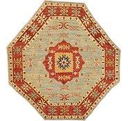 Link to 6' 8 x 7' Kazak Oriental Octagon Rug