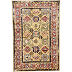 7x10 Yellow Kazak  Rugs