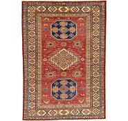 Link to HandKnotted 5' 6 x 7' 10 Kazak Oriental Rug