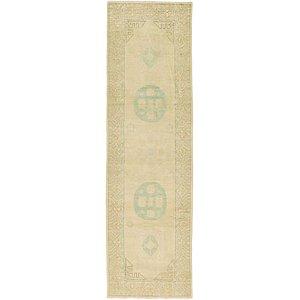 HandKnotted 2' 11 x 9' 7 Khotan Ziegler Oriental...