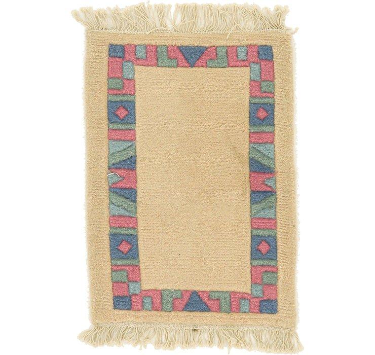 1' 5 x 1' 11 Indo Tibet Rug