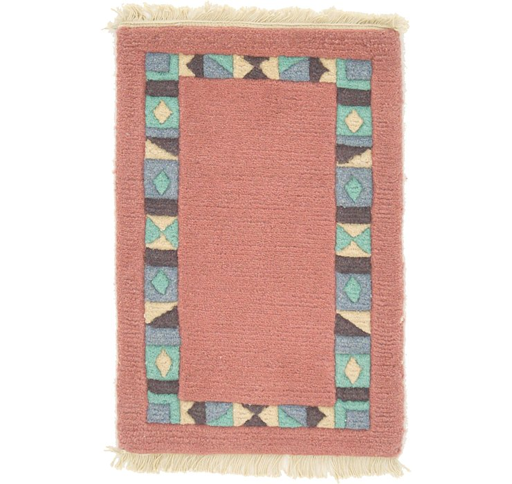 1' 3 x 1' 11 Indo Tibet Rug