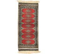 Link to 1' 4 x 3' 1 Bokhara Oriental Runner Rug