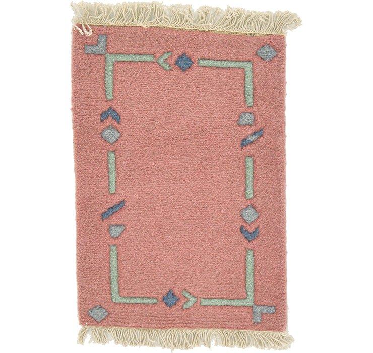 1' 4 x 1' 10 Indo Tibet Rug