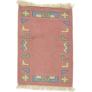 HandKnotted 1' 4 x 1' 10 Indo Tibet Rug