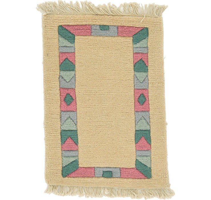 1' 4 x 2' Indo Tibet Rug