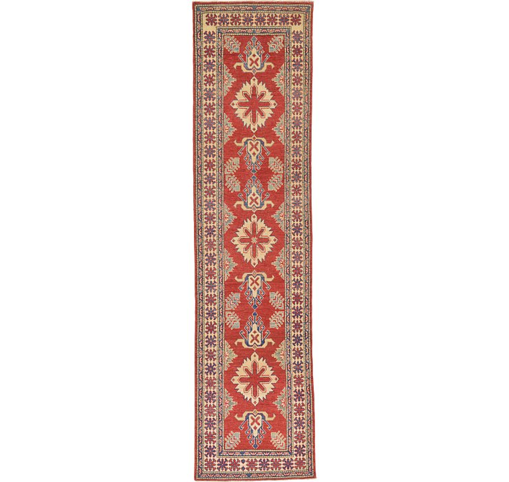 80cm x 325cm Kazak Oriental Runner Rug