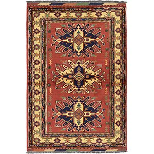 3' 4 x 4' 10 Kazak Oriental Rug