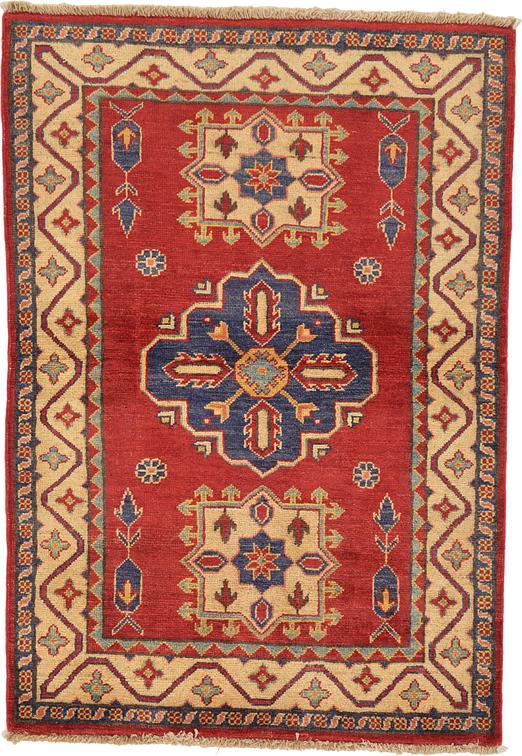 Red 3 2 X 4 8 Kazak Oriental Rug Area Rugs Esalerugs
