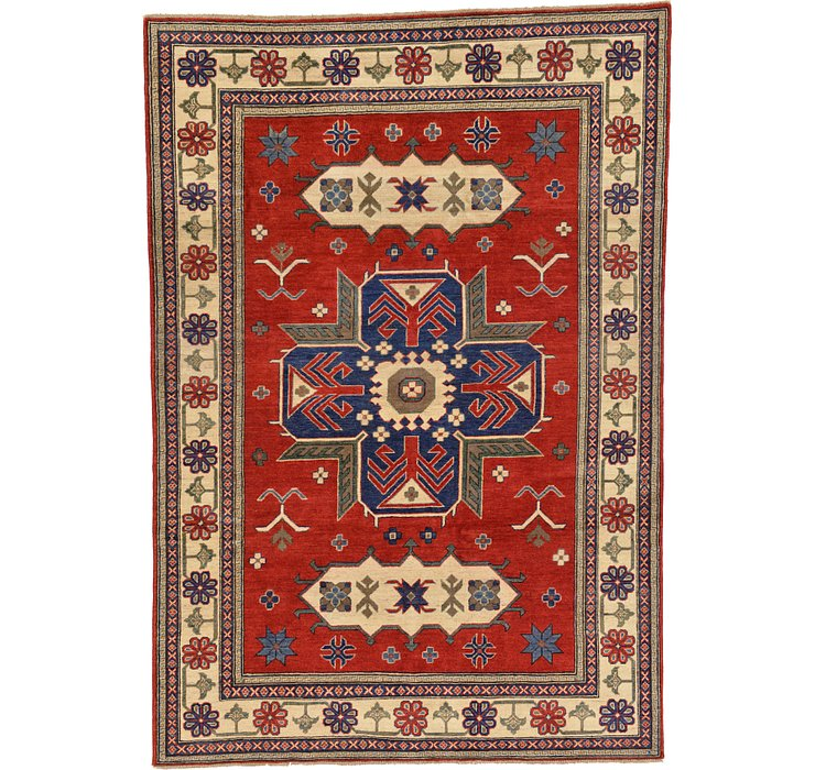 6' x 8' 10 Kazak Oriental Rug
