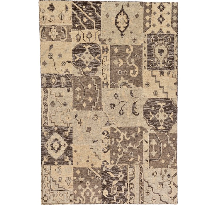 HandKnotted 6' 6 x 9' 7 Patchwork Rug