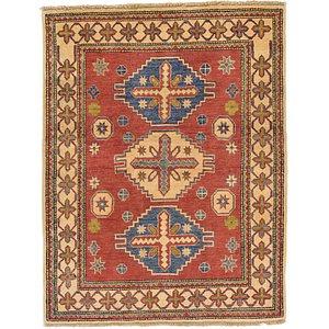 4' x 5' 2 Kazak Oriental Rug
