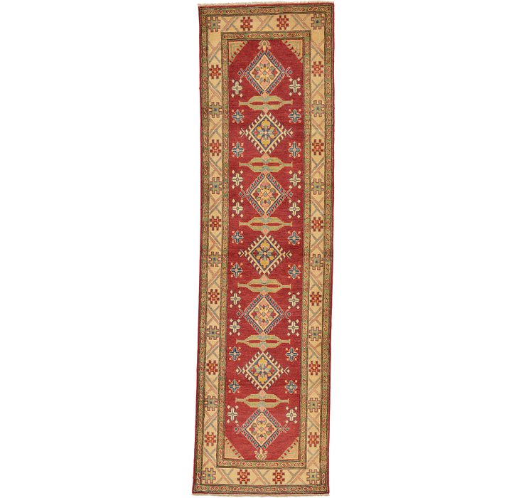 3' x 10' 7 Kazak Oriental Runner Rug