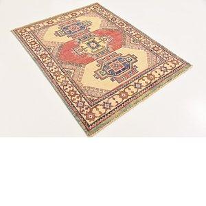 Unique Loom 3' 5 x 4' 7 Kazak Oriental Rug