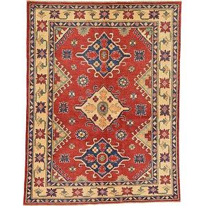 Unique Loom 4' 7 x 6' Kazak Oriental Rug