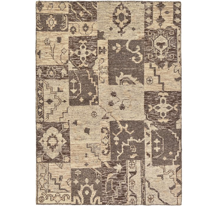 HandKnotted 5' 6 x 7' 8 Patchwork Rug