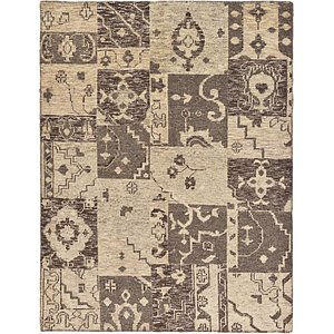 HandKnotted 5' 9 x 7' 7 Patchwork Rug