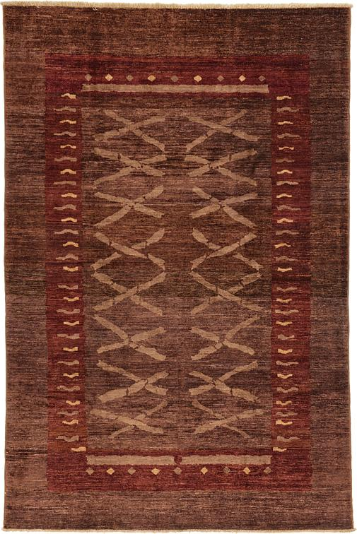 Plum red 6 39 x 9 39 modern ziegler rug oriental rugs for Plum and cream rug
