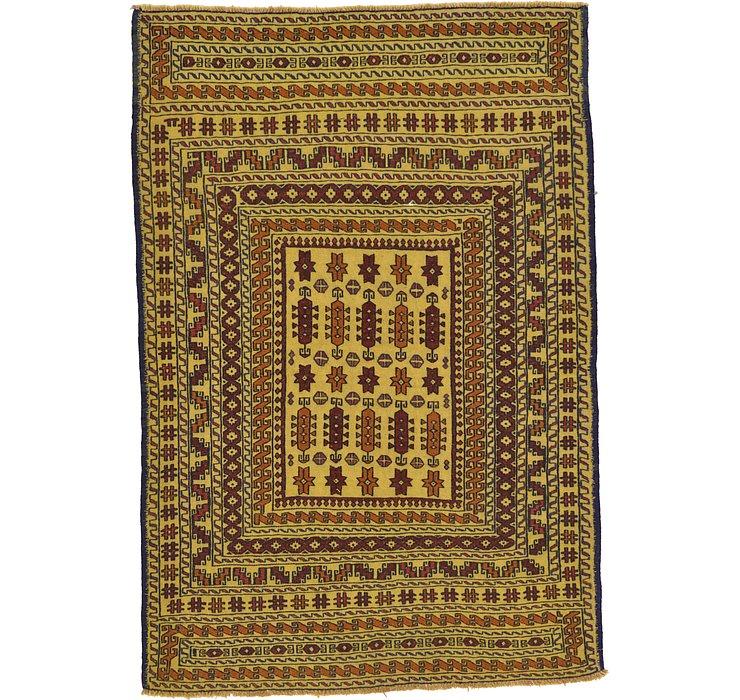4' 5 x 6' 6 Kilim Afghan Rug