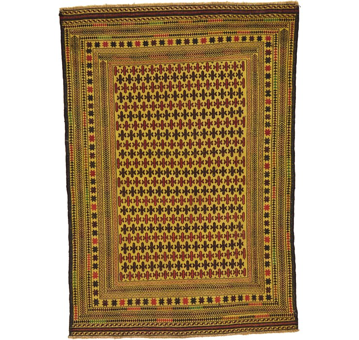 127cm x 178cm Kilim Afghan Rug