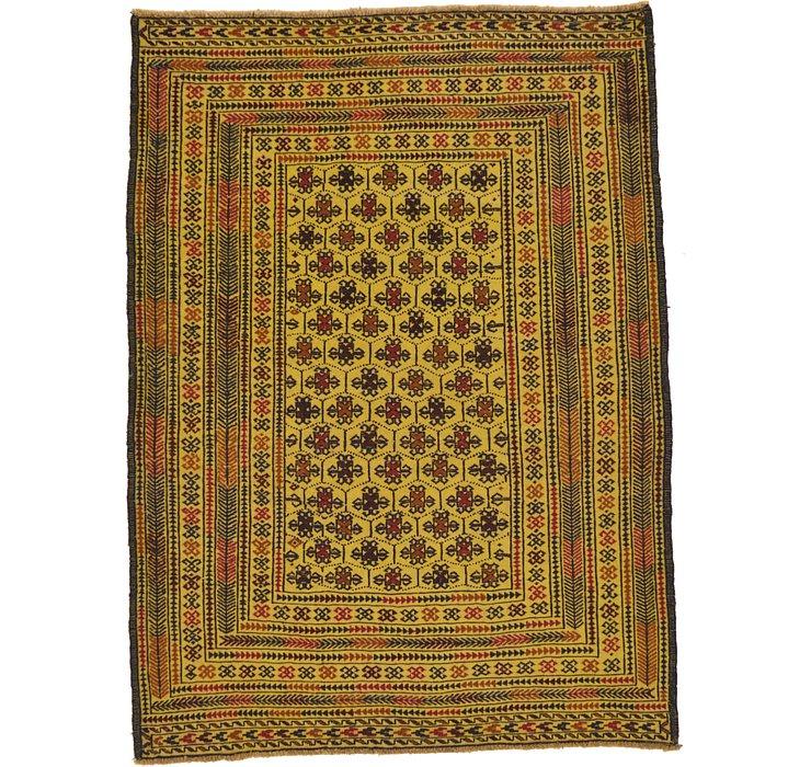 4' 2 x 5' 8 Kilim Afghan Rug