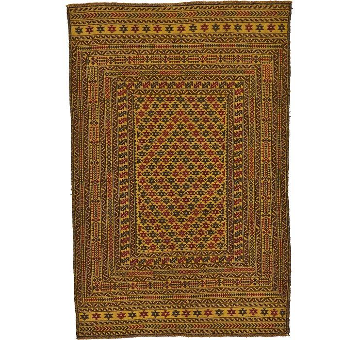 4' x 6' 2 Kilim Afghan Rug