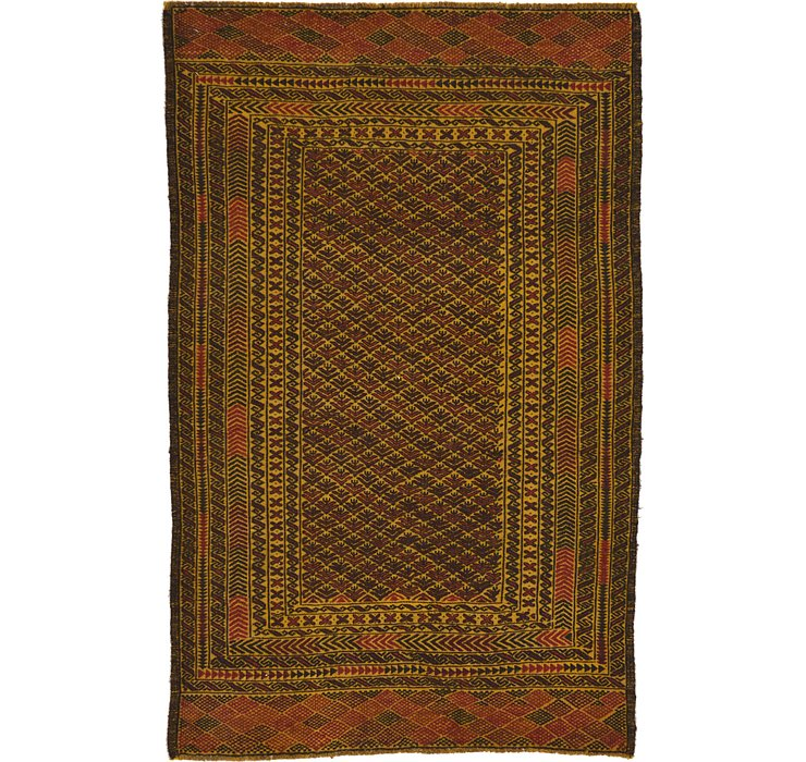 3' 10 x 6' 2 Kilim Afghan Rug