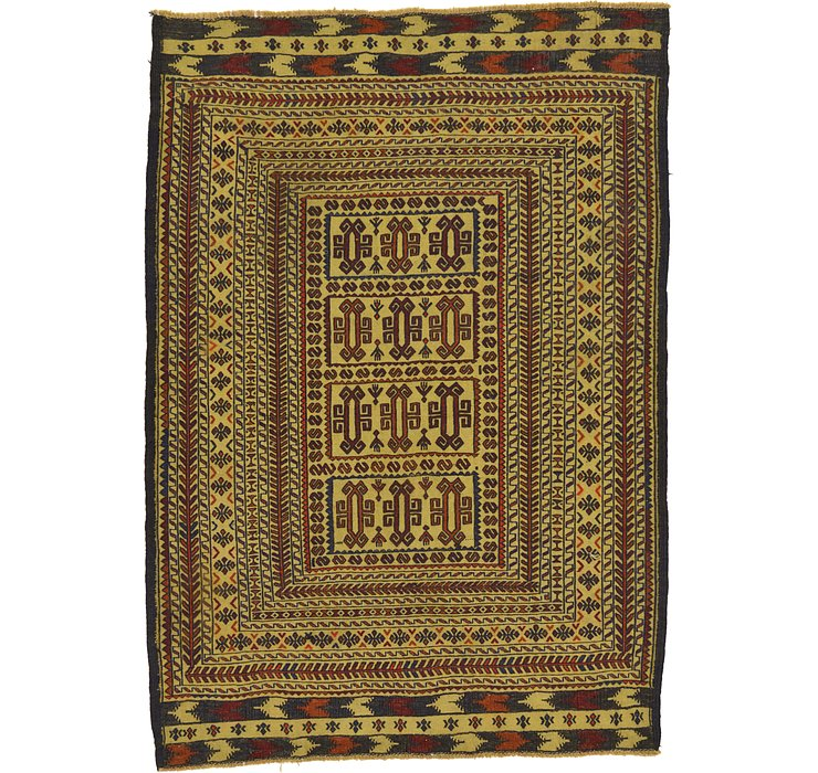 4' 4 x 6' 2 Kilim Afghan Rug