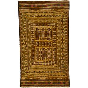 3' 9 x 6' 6 Kilim Afghan Rug