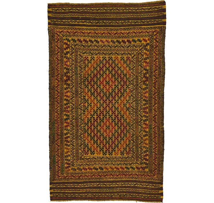 3' 9 x 6' 5 Kilim Afghan Rug