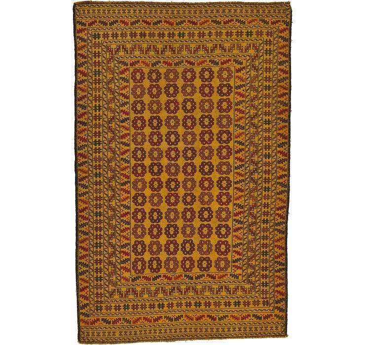 4' 3 x 6' 8 Kilim Afghan Rug