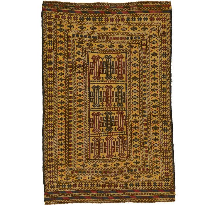 4' 3 x 6' 4 Kilim Afghan Rug