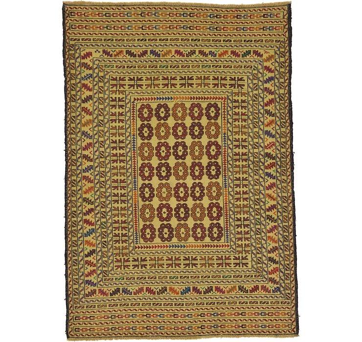4' x 5' 10 Kilim Afghan Rug