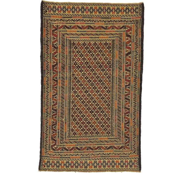 3' 9 x 6' 3 Kilim Afghan Rug