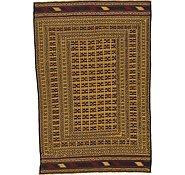 Link to 4' 6 x 6' 6 Kilim Afghan Rug