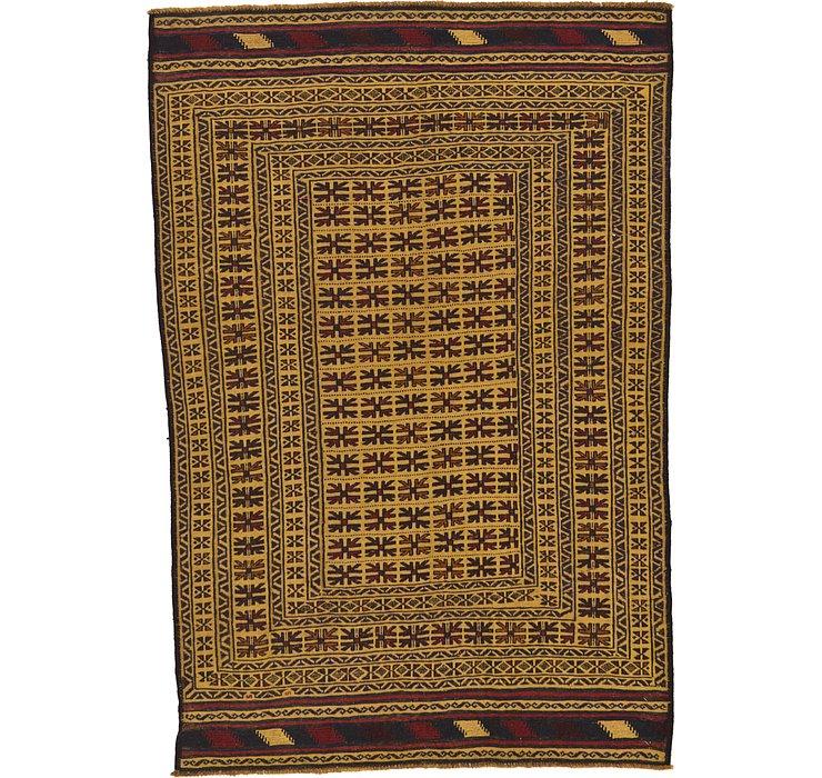 4' 6 x 6' 6 Kilim Afghan Rug