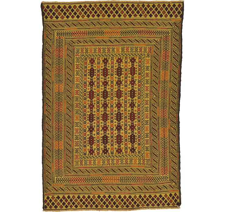 132cm x 195cm Kilim Afghan Rug