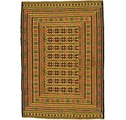 Link to 4' 5 x 6' 3 Kilim Afghan Rug